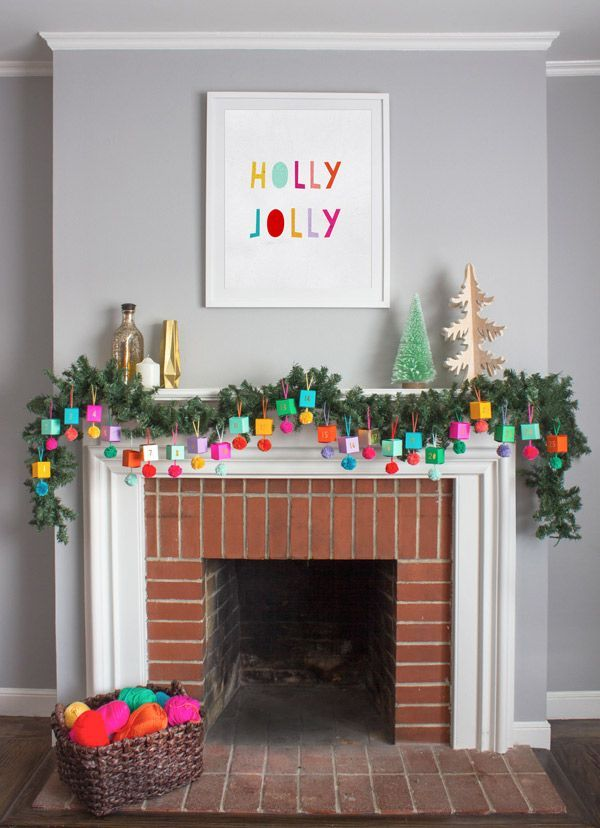 Image via Oh Happy Day. http://ohhappyday.com/2015/11/diy-paper-ornament-advent-calendar/