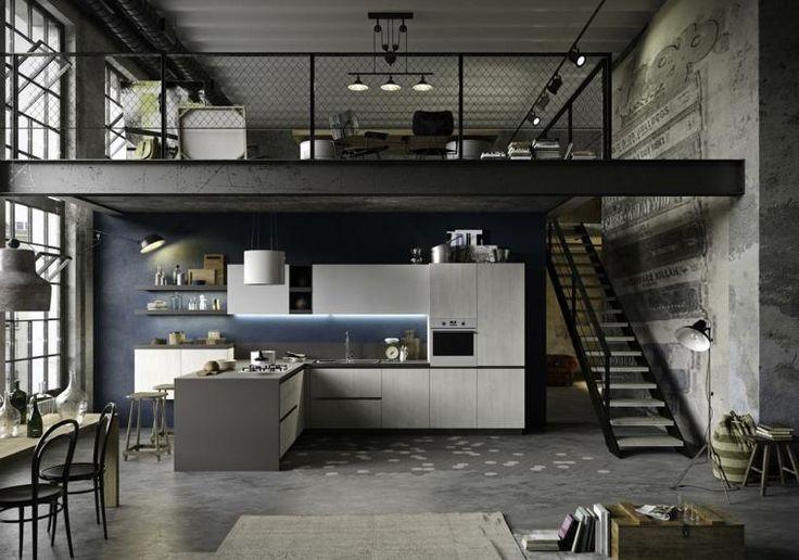 Elegant und attraktiv industrielle Stil Küche Designs