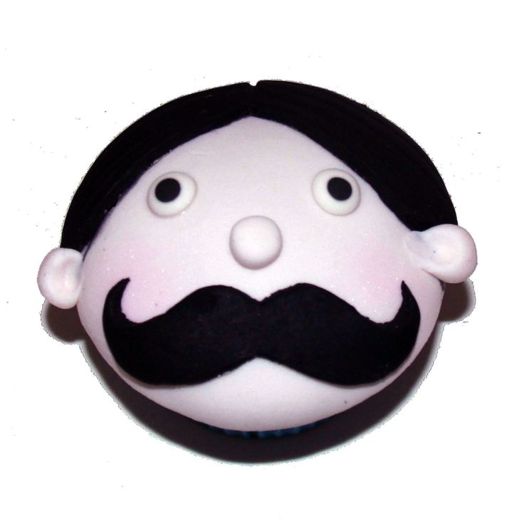Little Mr Moustache Cupcakes Like us at www.facebook.com/melianndesigns
