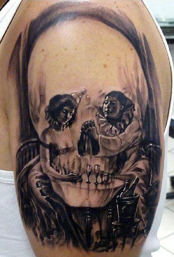 Skull Tattoos 31 - 80 Frightening and Meaningful Skull Tattoos   <3