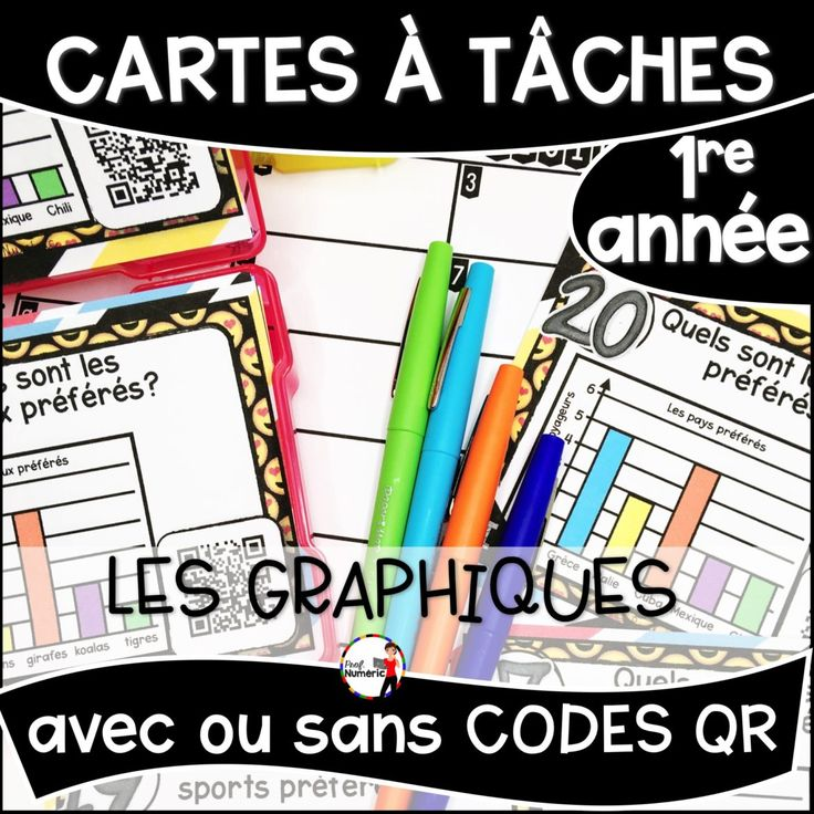 Cartes à Tâches de mathématiques 1re année du primaire. Les Graphiques, les diagrammes à bandes.