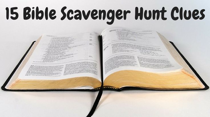 If you're looking for Bible scavenger hunt clues, check out this idea which includes a free downloadable worksheet