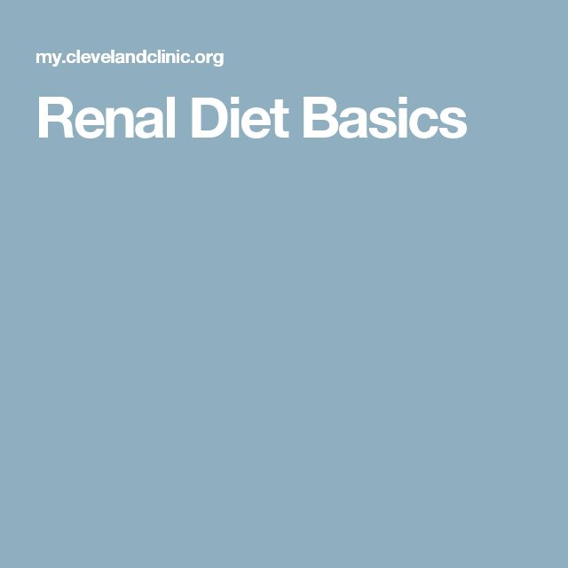 Renal Diet Basics