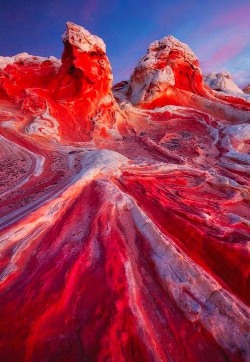 Valley of Fire State Park, Nevada, USA - one of the most unusual and beautiful places so earth