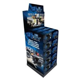 """All-Terrain Vise Merchandiser with 7"""""""""""""""" LCD TV and 15 ATVs, Fully Assembled"""
