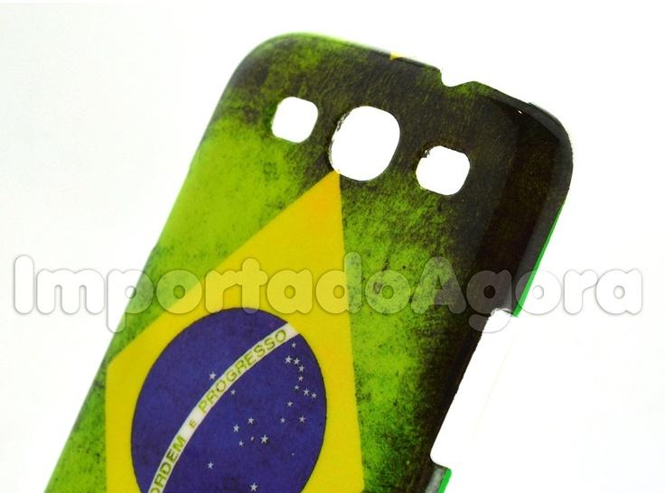 Capa Rígida - Bandeira Brasil Samsung Galaxy S3 i9300 - Para mais informações clique na imagem :)