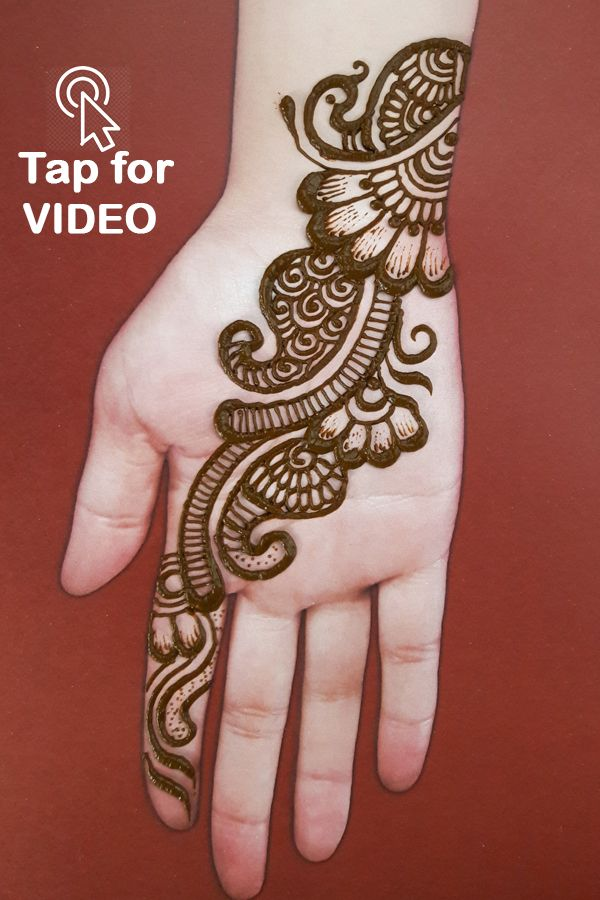 very easy mehndi designs