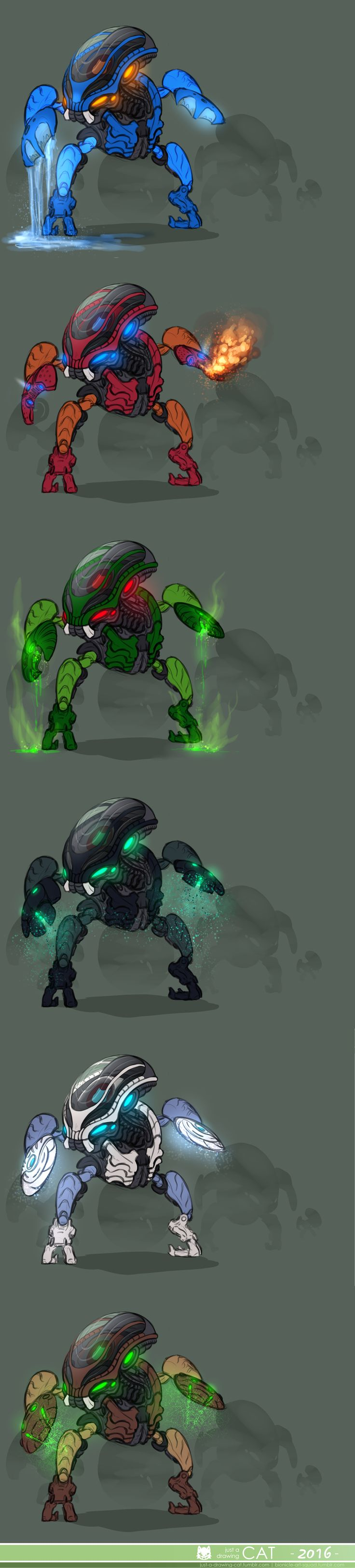 """""""It is said that the Bohrok sleep an eternal sleep, waiting to hatch. Once awakened, the swarms are unstoppable… a force so powerful, they can reduce mountains to rubble and turn life-g..."""