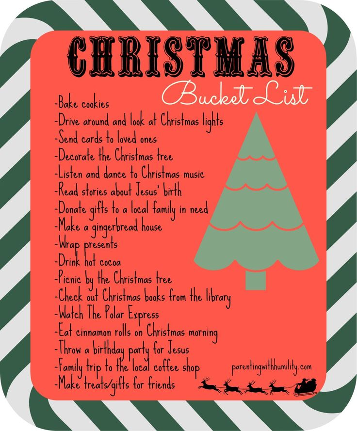 Our Christmas bucket list for 2015! #christmasonabudget #christmaswithlittleones #parentingwithhumility