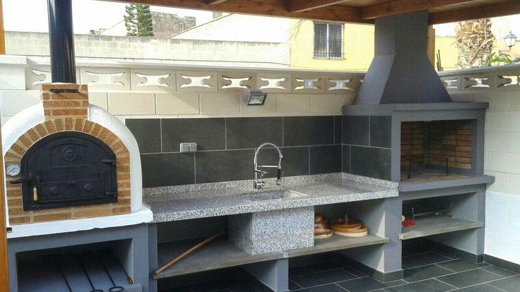 Barbacoa nati ancho hogar de metro horno le a chimeneas for Hogares a lena rusticos