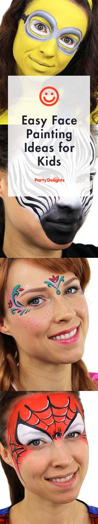 Learn how to create these easy face paint designs for kids with our collection of short, easy to follow YouTube face paint tutorials.