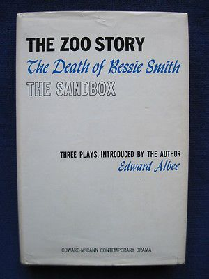 EDWARD ALBEE - THE ZOO STORY, DEATH OF BESSIE SMITH, THE SANDBOX 1st Ed 1st Book