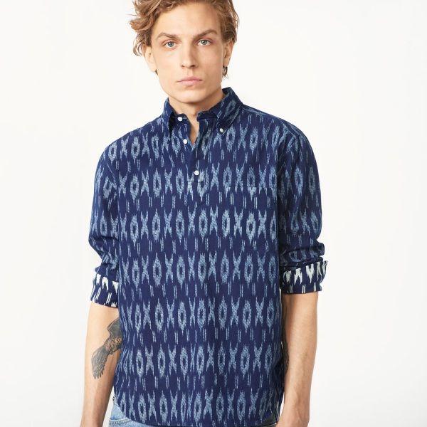 GANT Rugger - Indigo Mikado Shirt Dark Indigo for Men's   Official Site