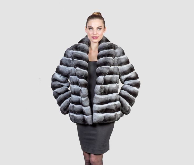 #chinchilla #real #fur #coat #jacket #style #fashion #classy #clothing #top #best #collar #elegant