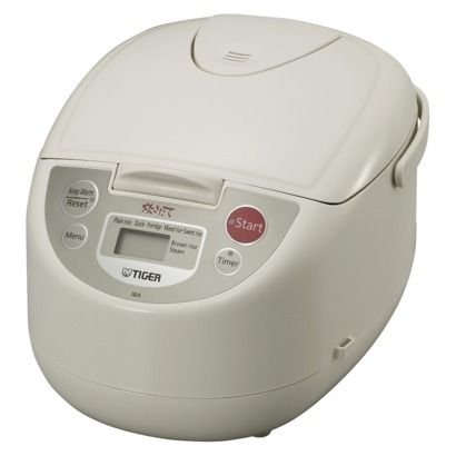 Tiger Micom Rice Cooker Keeps your rice warm for a couple of days without drying out. :)