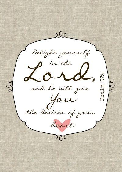 Psalm 37:4 Printable