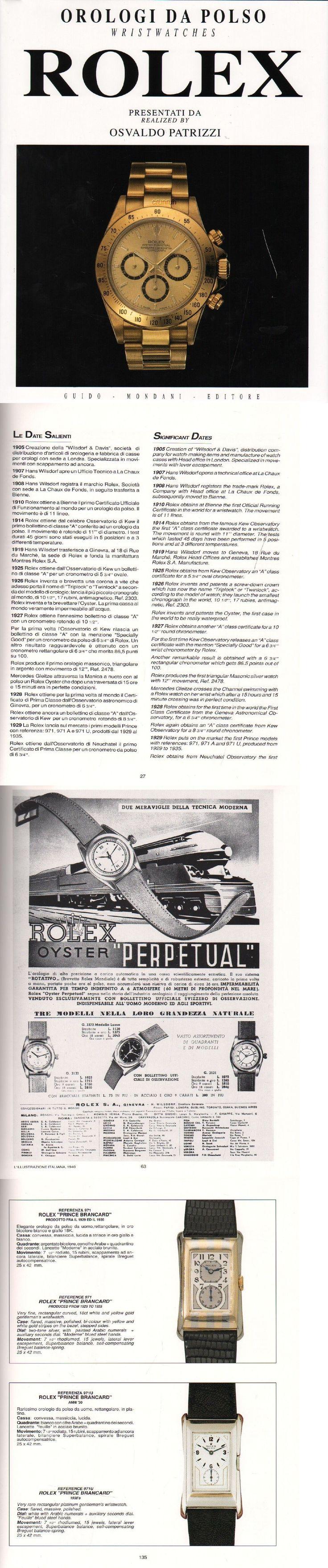 Manuals and Guides 93720: Rolex Wristwatch Book, Osvaldo Patrizzi, Guido Mondani Editor, Orologi Da Polso BUY IT NOW ONLY: $50.0