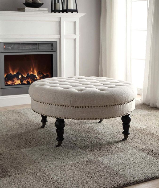 Best 25 Round Tufted Ottoman Ideas On Pinterest Tufted Ottoman Coffee Table Trays On