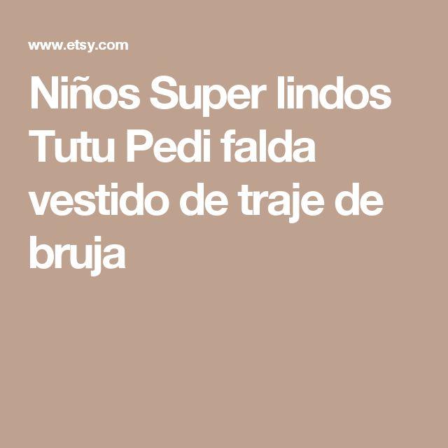 Niños Super lindos Tutu Pedi falda vestido de traje de bruja