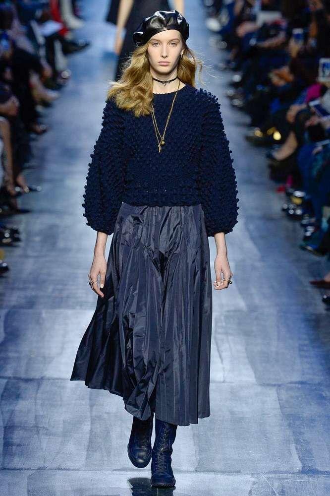 Collezione Dior Autunno-Inverno 2017-2018 - Gonna plissé Dior