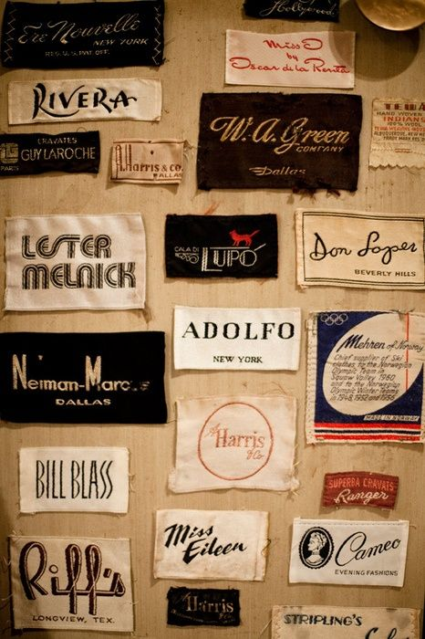 vintage clothes tags - Google Search