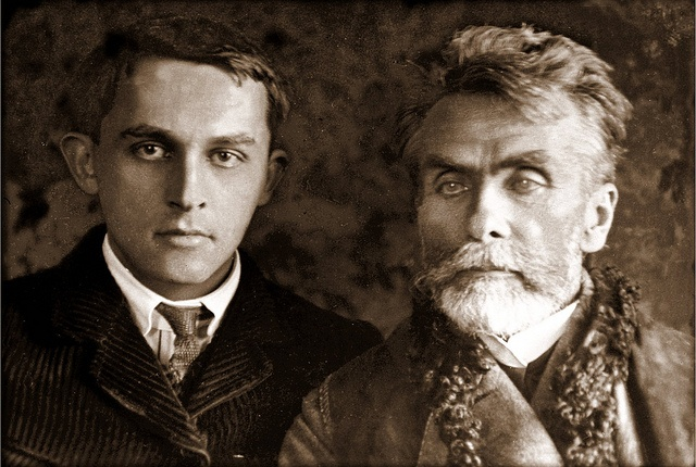 Witkacy (1885-1939) with his father Stanislaw Witkiewicz (1851-1915)