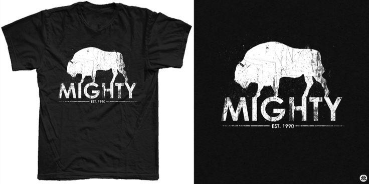 """MIGHTY"" t-shirt design by sebrodbrick"