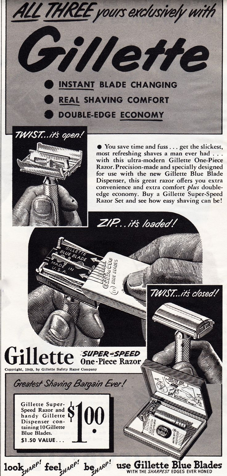 Gillette Razor, 1949..... I'm 57 yrs old this yr  that was the 1st razor I ever used  ! Omg !  The severity of the cuts I got from that razor  !!