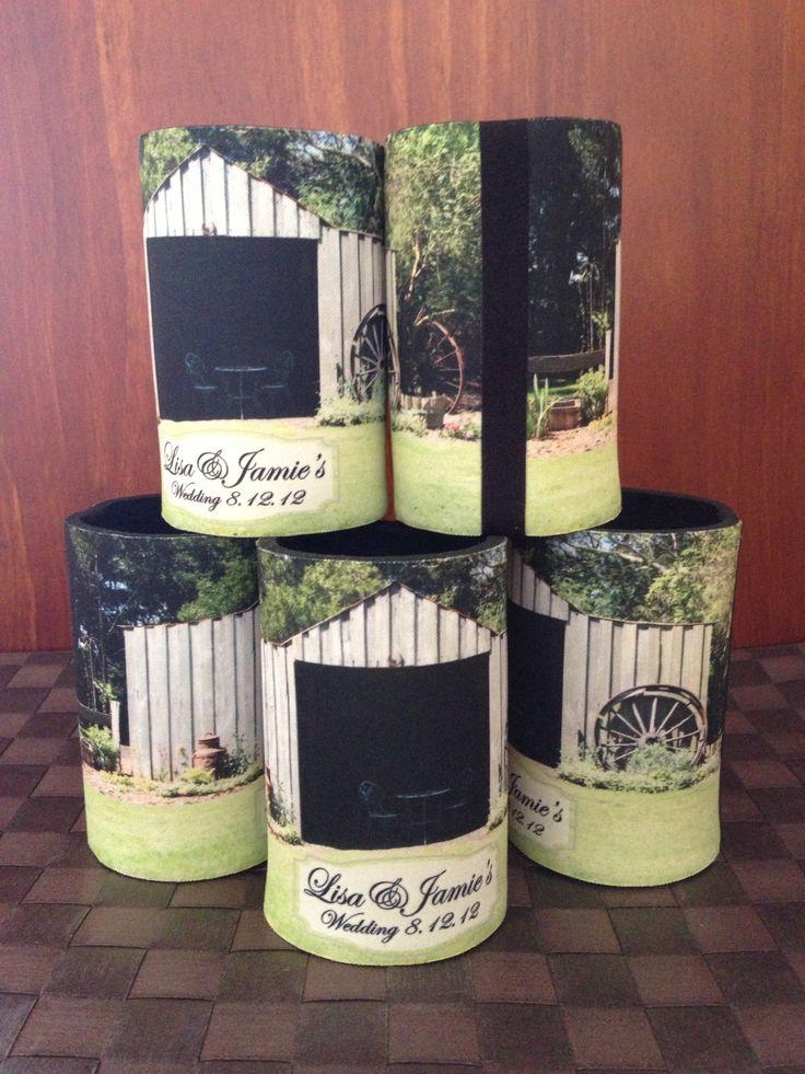 Wedding Gift Stubby Holders : Stubbie HoldersCustom Stubby HoldersWedding thankyou gifts ...