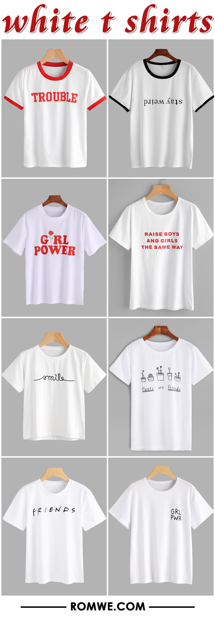 white t shirts from romwe.com