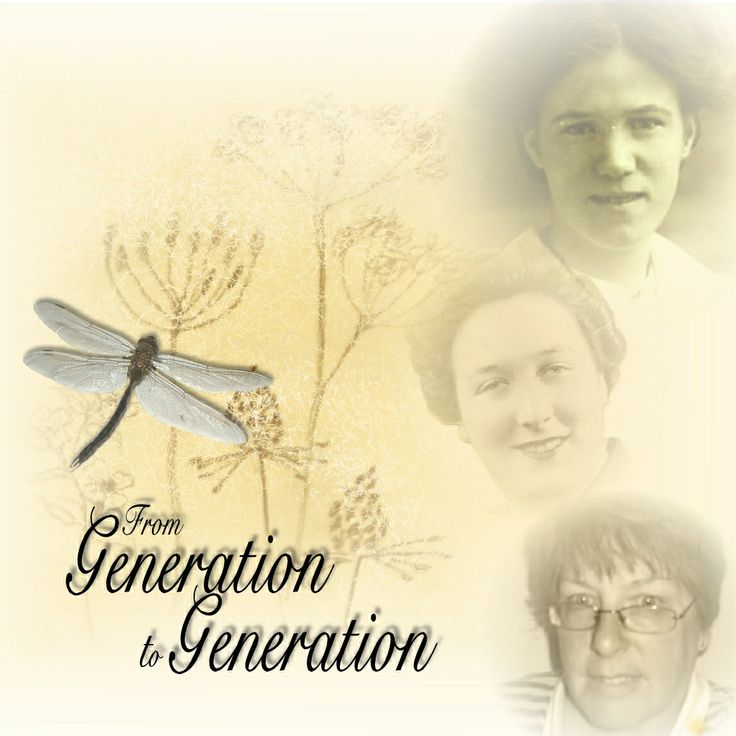 From Generation to Generation ~ Scrap a multi-generational page. If possible, try to use photos of everyone from a similar age range to see how much they look alike.