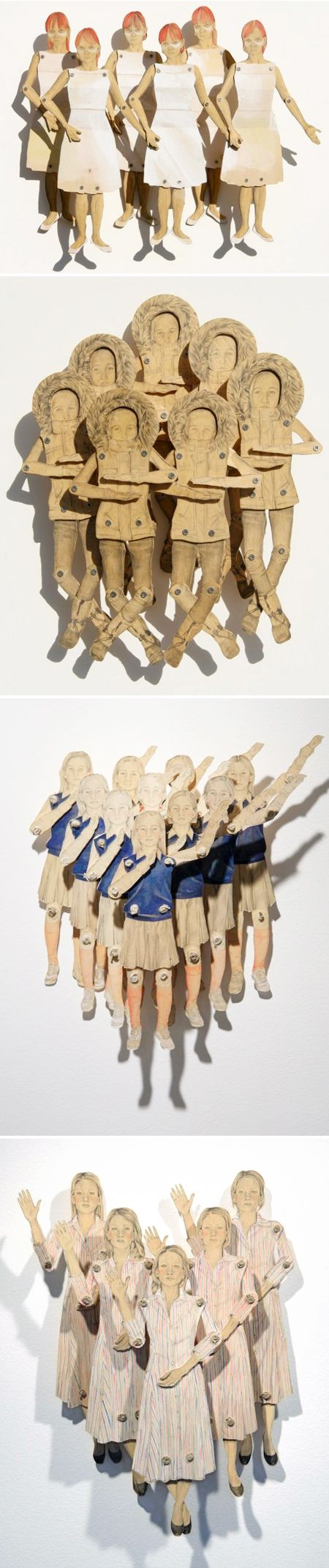claire oswalt ~ wooden, moveable drawings <3
