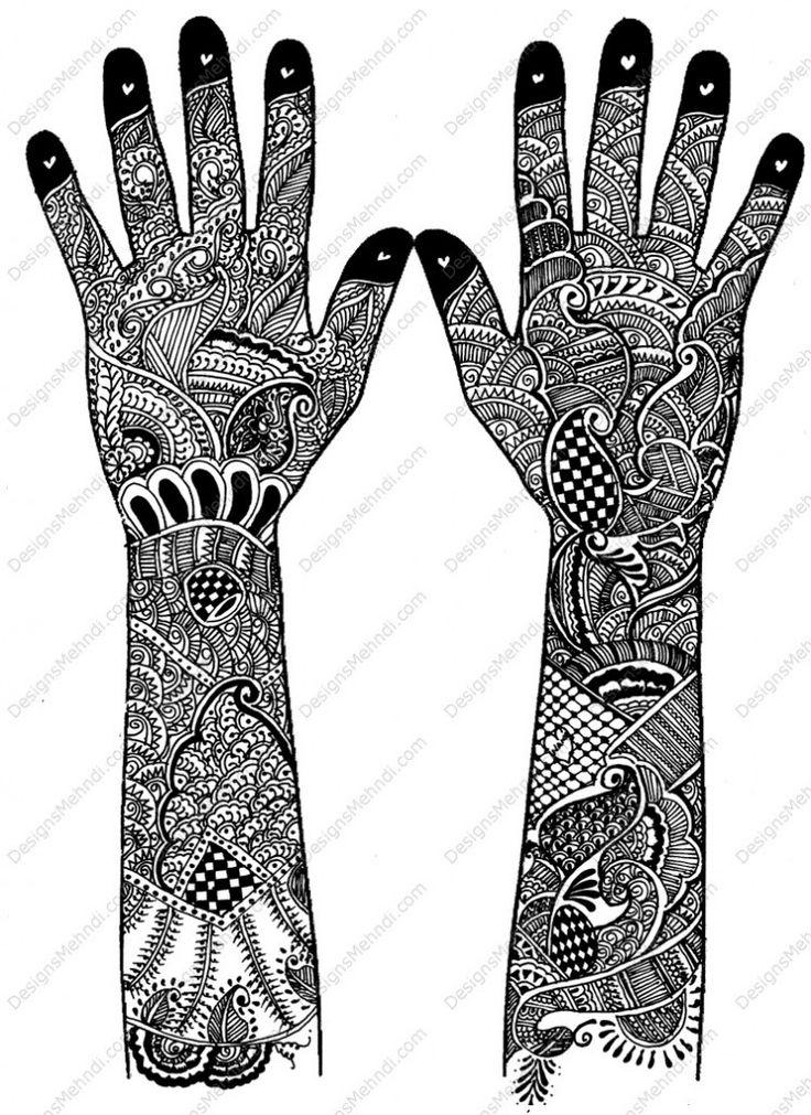 intricate bridal henna design