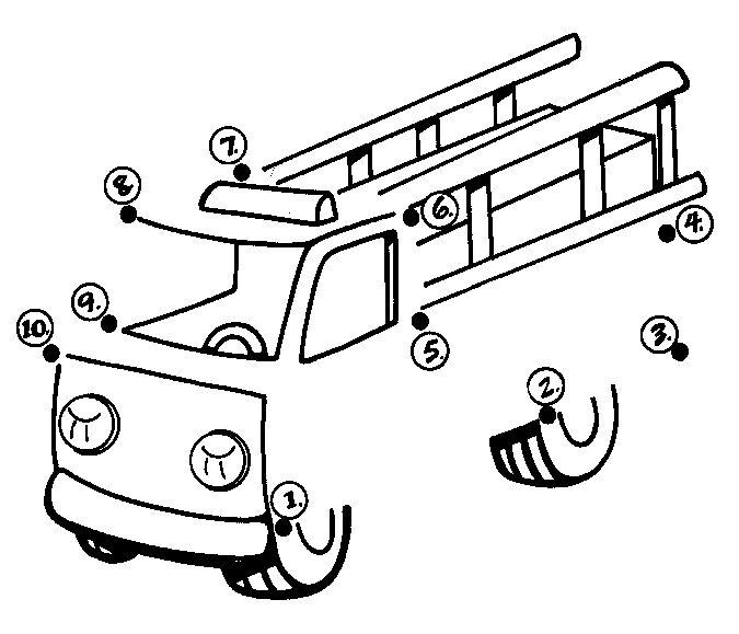 KleuterDigitaal - wb punten brandweerauto