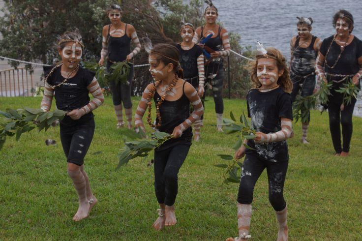 Djaadjawa dancers at the First Hand Aboriginal markets at La Perouse, Sydney.