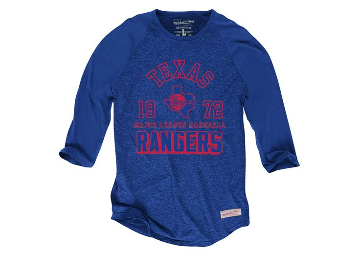 Team Established Raglan Texas Rangers - Shop Mitchell & Ness MLB Shirts and Apparel