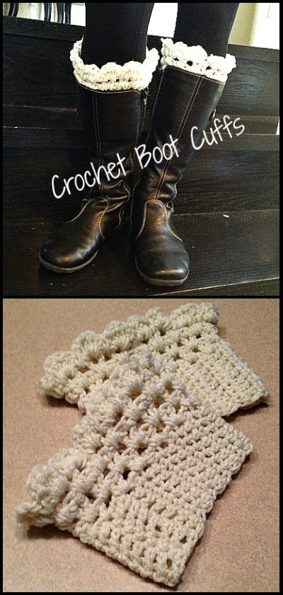 How to Crochet Boot Cuffs. The boot cuff fashion fad had me on a quest to find an easy and quick how-to crochet boot cuff video on YouTube. Try it!
