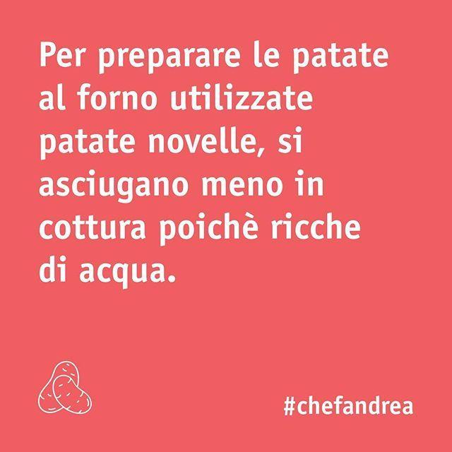 Per un contorno sano e gustoso, preparate delle patate al forno...ecco un tips dello chef!  -  #patatealforno #food #contorno #chef #yummy #foodie #chefincamicia #foodgram #instafood #yummy #tips #chef