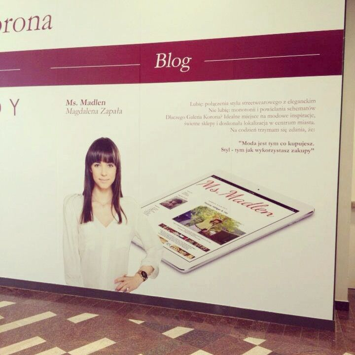 Ms.Madlen in Galeria Korona ;) #blogspot#fashion#lifestyleandshopping