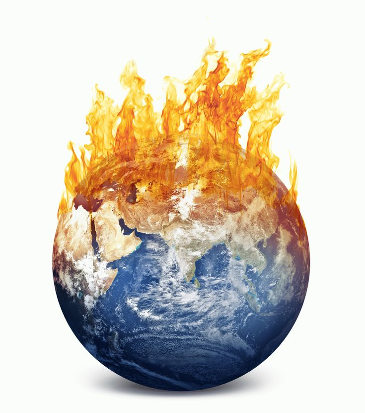 "The World on Fire. Fictional example of ""global warming""."