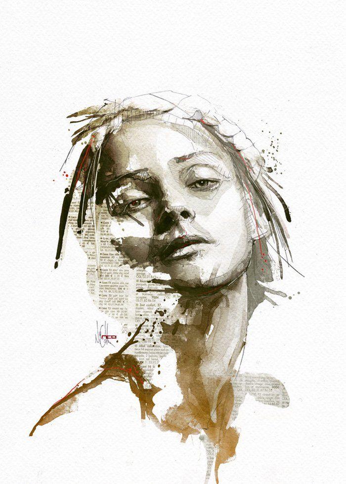 Ausgefallene Portrait Illustrationen von Florian Nicolle   DerTypvonNebenan.de