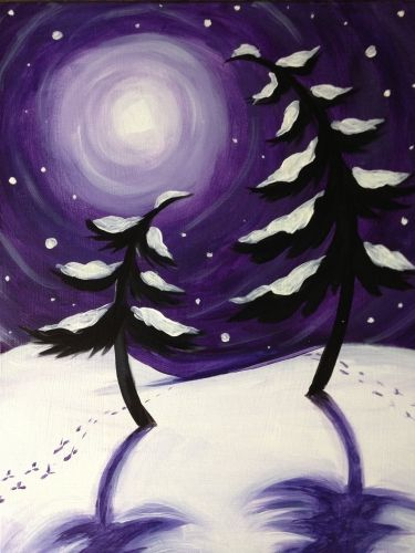 """Winter Dance"" created for Paint Nite by Meredith McCarthy"