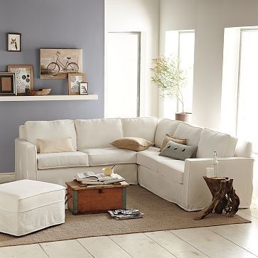 Henry Slipcovered Sectional eclectic sectional sofas