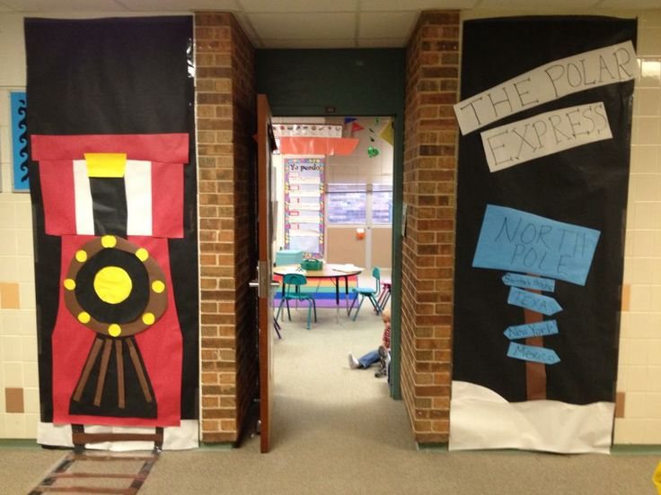 Polar Express Classroom Decoration Ideas ~ The best christmas classroom door ideas on pinterest
