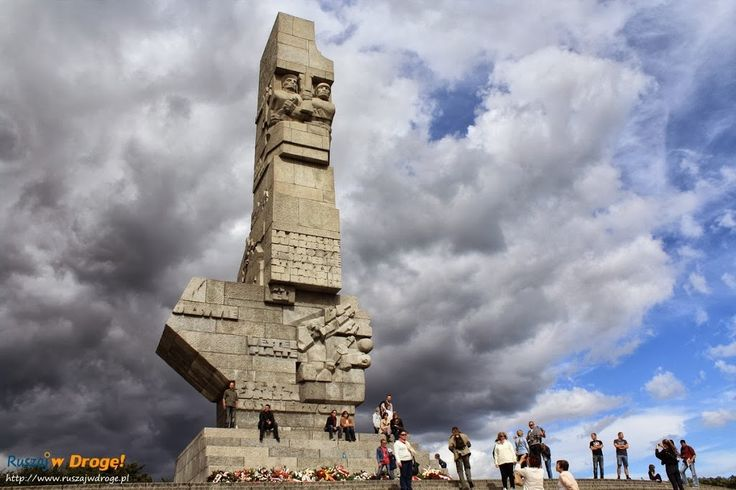 Westerplatte Monument in remembrance of the Battle of Westerplatte and to the defenders of the coast of Poland