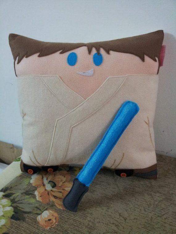 Handmade Luke Skywalker with Lightsaber Star Wars Pillow Cushion Throw Pillow Plush & 124 best Pillows Zzzzz images on Pinterest | Starwars Cushions ... pillowsntoast.com