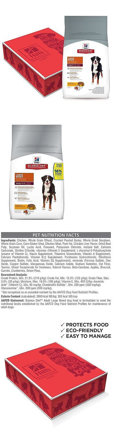 Dog Food 66780: Hills Science Diet Large Breed Dry Dog Food Adult 38.5 Lb Bag BUY IT NOW ONLY: $50.11