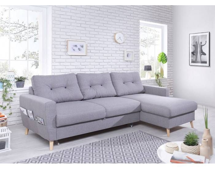 Canape Gris Clair Convertible Oslo Canape D Angle Droit Convertible Gris Clair Au Check More At Https In 2020 Bedroom Color Schemes Corner Sofa Outdoor Sectional Sofa