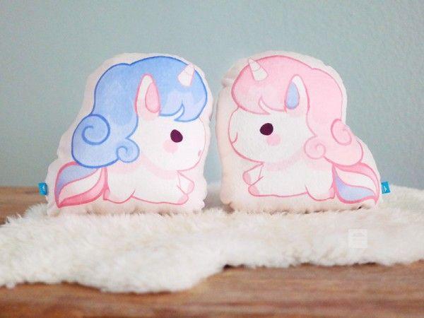 Thousand Skies - chibi unicorn pillows