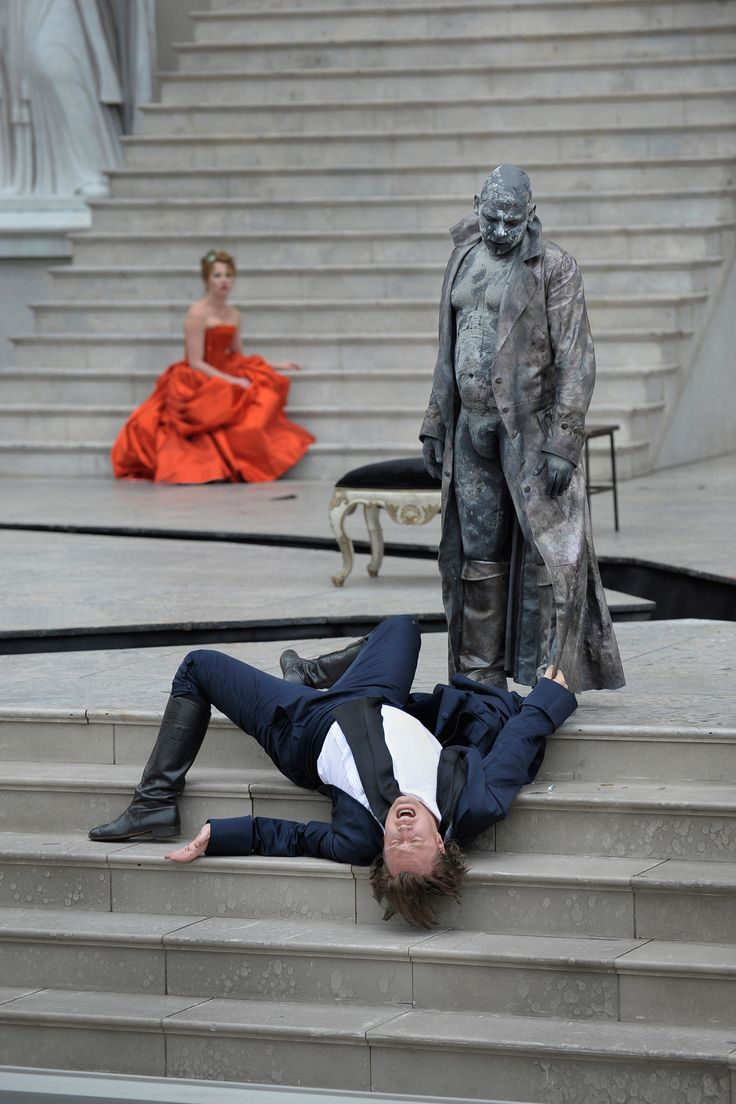 Scene from the famous play Everyman at the Salzburger Festspiele in Salzburg, Austria. © Hermann Clärchen Baus #feelaustria